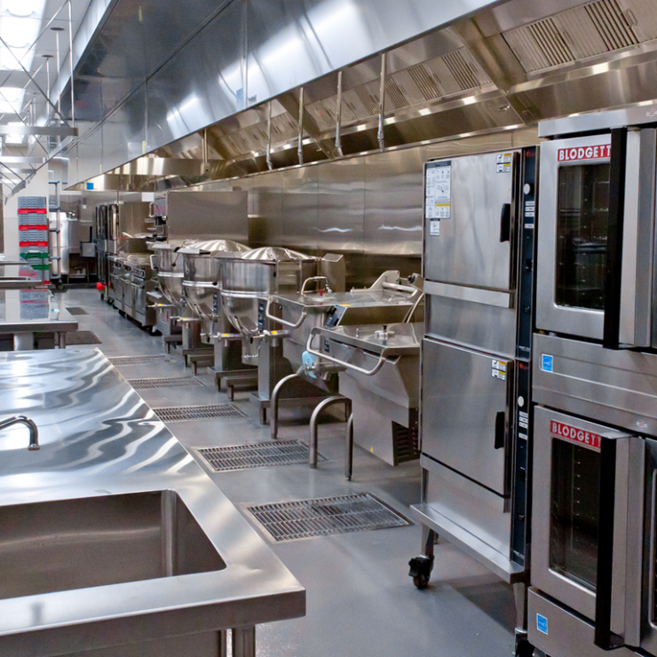 An image of the clean and modern meal prep facilities.